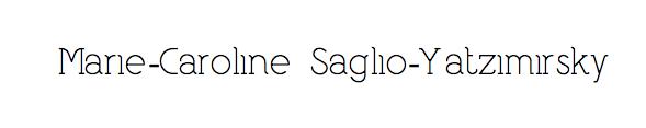 Marie-Caroline Saglio-Yatzimirsky Logo